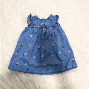 Gap Blue Floral Baby Dress